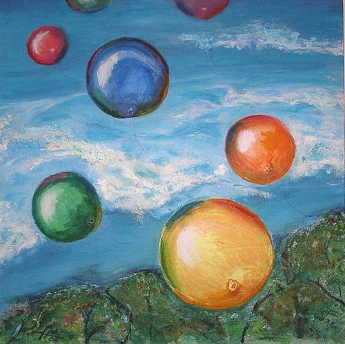 Ute Heitmann, Luftballons, Fantasie, Gegenwartskunst