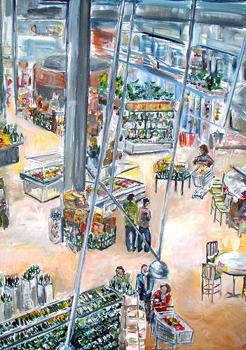 Ute Heitmann, Supermarkt, USA Florida, Gesellschaft, Situationen, Gegenwartskunst