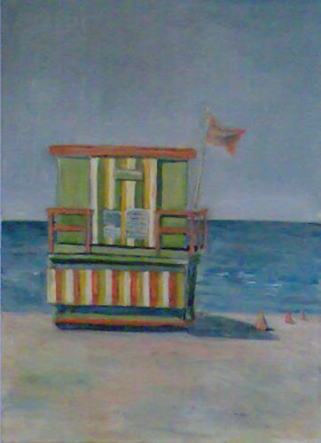Ute Heitmann, Strand Miami, Architektur, Freizeit, Gegenwartskunst