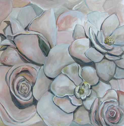Ute Heitmann, Rosen, Pflanzen: Blumen, Gegenwartskunst