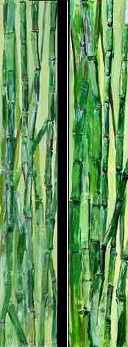 Ute Heitmann, Bambus Dyptichon, Natur, Pflanzen, Gegenwartskunst