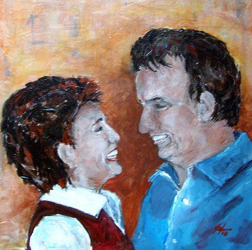 Ute Heitmann, ...und sie lieben sich doch, Menschen: Paare, Menschen: Porträt, Gegenwartskunst