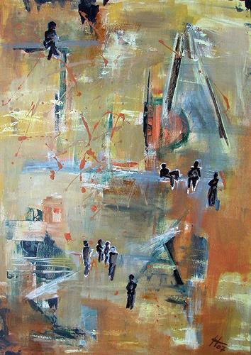 Ute Heitmann, Jazz abstrakt, Abstraktes, Gegenwartskunst