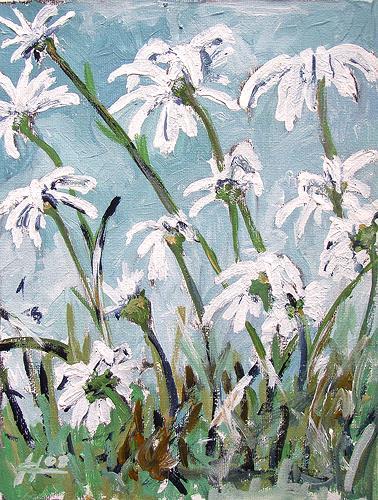 Ute Heitmann, Margeriten II, Pflanzen: Blumen, Gegenwartskunst