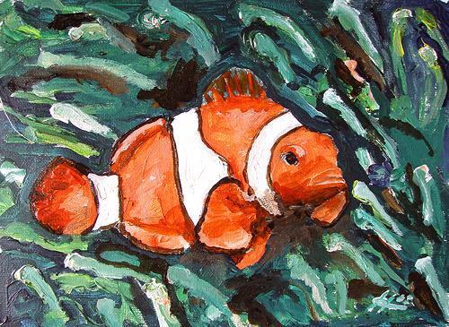 Ute Heitmann, Clownfisch, Tiere: Wasser, Gegenwartskunst