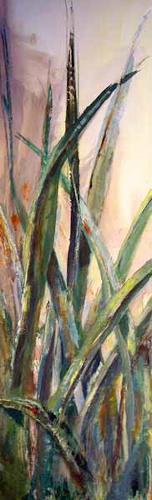 Ute Heitmann, Gras grün, Dekoratives, Diverse Pflanzen, Gegenwartskunst