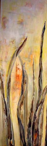 Ute Heitmann, Grass dunkel, Diverse Pflanzen, Dekoratives, Gegenwartskunst