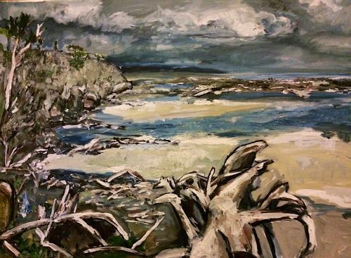 Ute Heitmann, Coast newzealand, Landschaft: See/Meer, Gegenwartskunst, Abstrakter Expressionismus