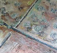 Ute-Heitmann-Landschaft-Ebene-Pflanzen-Baeume-Gegenwartskunst--Gegenwartskunst-