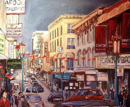 Ute Heitmann, Chinatown San Francisco, Diverse Bauten, Situationen, Gegenwartskunst