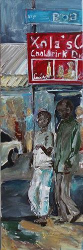Ute Heitmann, Südafrika Township 03, Menschen: Gruppe, Gesellschaft, Gegenwartskunst