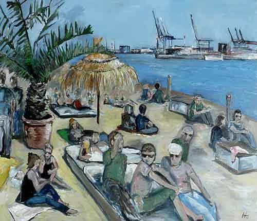 Ute Heitmann, Beach Club Hamburg, Menschen: Gruppe, Gesellschaft