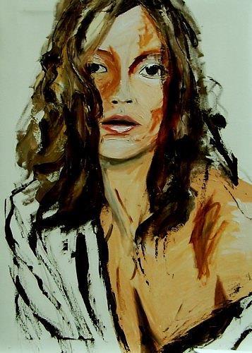 Ruth Batke, rough sketch, Menschen: Frau, Gegenwartskunst, Expressionismus