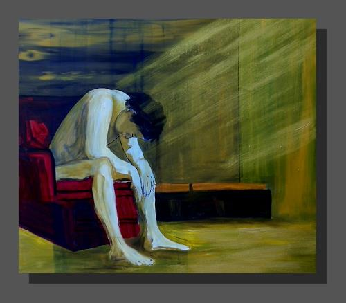 Ruth Batke, blue man, Diverses, Abstrakter Expressionismus
