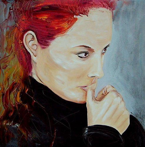 Ruth Batke, Wondering, Diverse Gefühle, Menschen: Frau, Gegenwartskunst