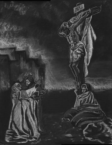 Annett Magnabosco, Die Kreuzigung, Religion, Symbol, Symbolismus, Abstrakter Expressionismus