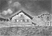 Annett-Magnabosco-Landschaft-Berge-Bauten-Haus-Neuzeit-Realismus