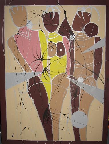 Brigitte Holzinger, AKT, Akt/Erotik: Akt Frau, Gegenwartskunst, Expressionismus