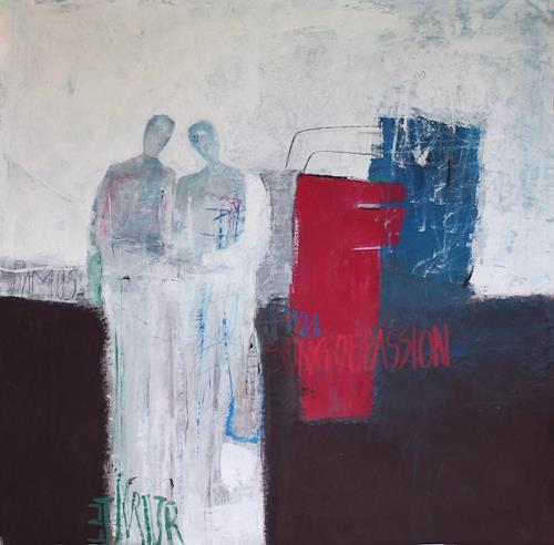 Sigrid Arnold Heinlein, Liebespaar, Abstraktes, Expressionismus