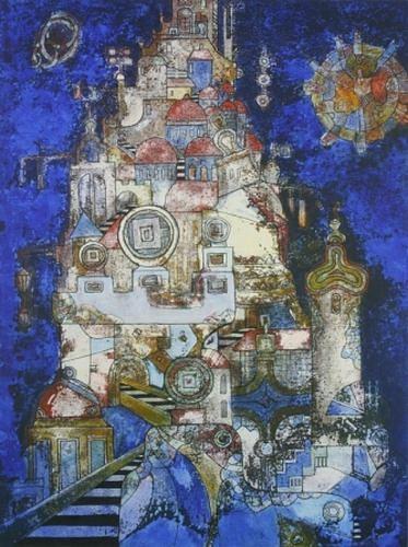 Friedhard Meyer, Babel 1, Religion, Architektur, Gegenwartskunst, Expressionismus