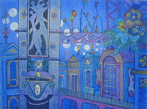 Friedhard Meyer, Tour d`Argent, Fantasie, Diverse Bauten, Gegenwartskunst