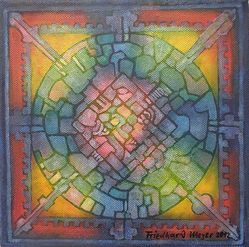 Friedhard Meyer, Mandala 8, Poesie, Fantasie, Gegenwartskunst