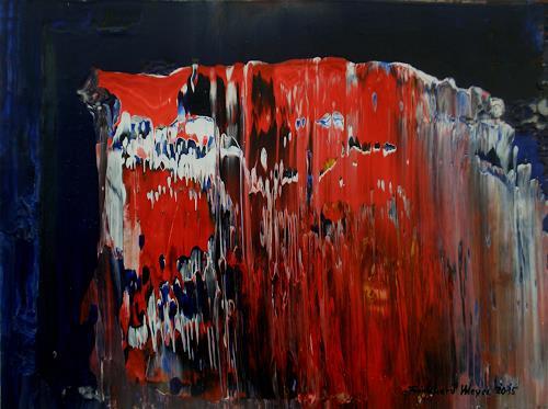 Friedhard Meyer, Roter Fels, Abstraktes, Landschaft: Berge, Gegenwartskunst, Abstrakter Expressionismus