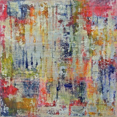 Friedhard Meyer, Vertikal 3, Abstraktes, Dekoratives, Gegenwartskunst