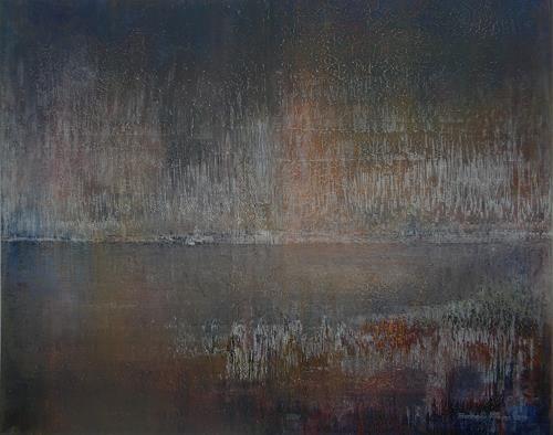Friedhard Meyer, See, Abstraktes, Natur: Wasser, Gegenwartskunst, Expressionismus