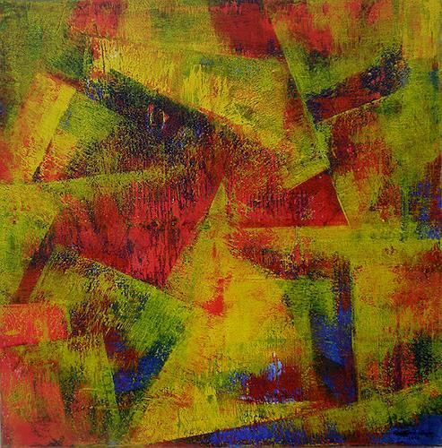 Friedhard Meyer, Angles 1, Abstraktes, Fantasie, Gegenwartskunst