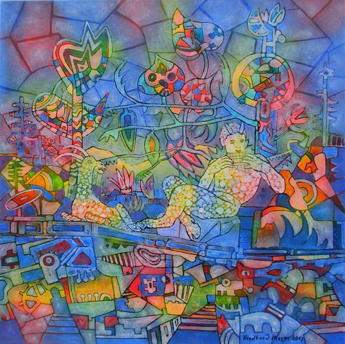 Friedhard Meyer, Pan, Mythologie, Glauben, Gegenwartskunst, Expressionismus