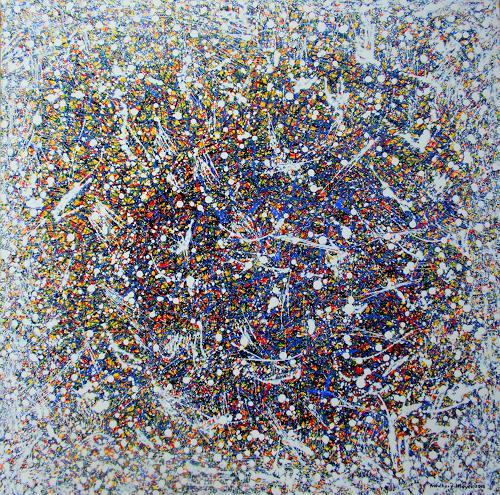 Friedhard Meyer, Elfentanz, Abstraktes, Poesie, Gegenwartskunst, Expressionismus
