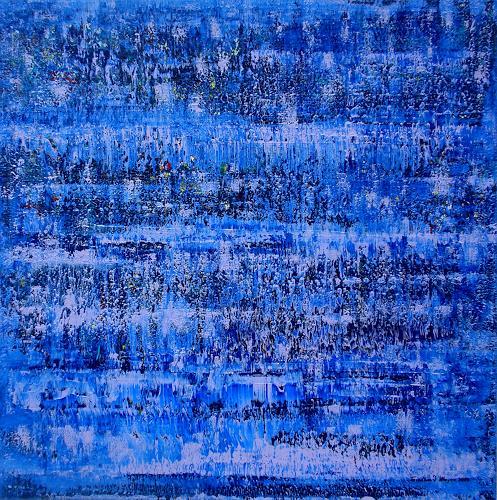Friedhard Meyer, Phthaloblau, Abstraktes, Dekoratives, Gegenwartskunst