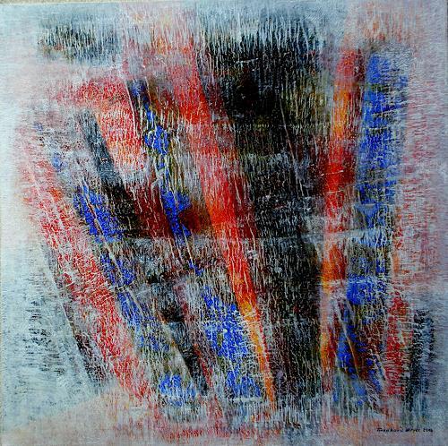 Friedhard Meyer, Weiße Schleier, Abstraktes, Poesie, Gegenwartskunst, Expressionismus