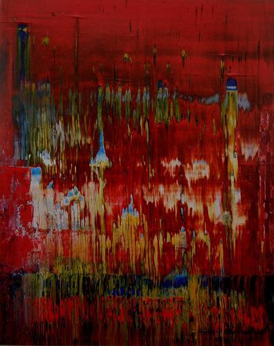 Friedhard Meyer, Blaukappentürmchen, Abstraktes, Fantasie, Gegenwartskunst