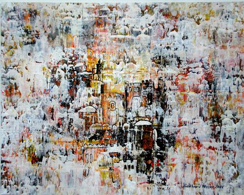 Friedhard Meyer, Marrakech, Diverse Bauten, Landschaft, Gegenwartskunst, Expressionismus