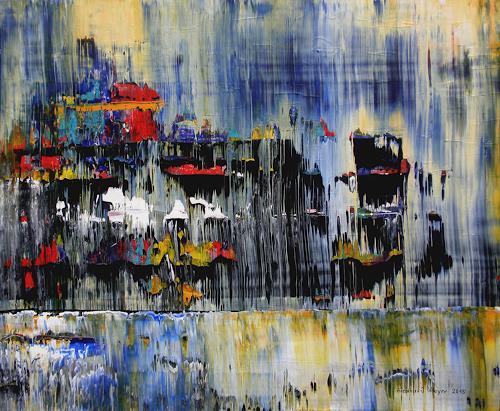 Friedhard Meyer, Festung, Abstraktes, Poesie, Expressionismus