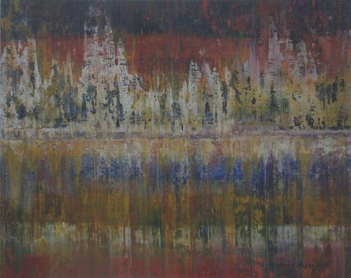 Friedhard Meyer, Wald, Abstraktes, Fantasie, Gegenwartskunst
