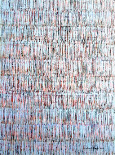 Friedhard Meyer, Farbzone Blau 1, Abstraktes, Poesie, Gegenwartskunst