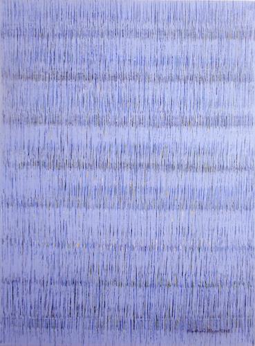 Friedhard Meyer, Farbzone Blau 3, Abstraktes, Poesie, Gegenwartskunst