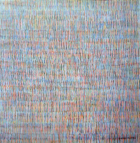 Friedhard Meyer, Farbzone Hellblau, Abstraktes, Dekoratives, Gegenwartskunst