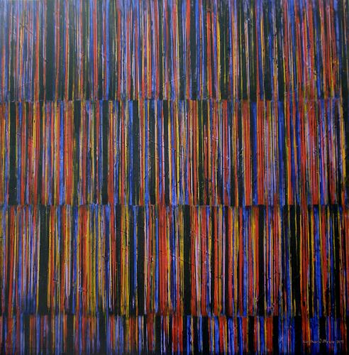 Friedhard Meyer, Farbzone Intensiv, Abstraktes, Dekoratives, Gegenwartskunst, Abstrakter Expressionismus