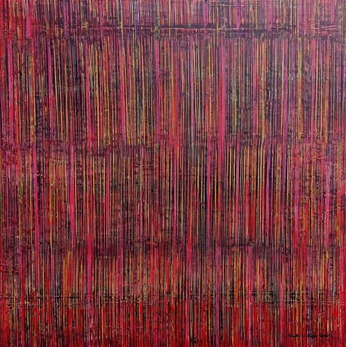 Friedhard Meyer, Farbraum Rot 1, Abstraktes, Dekoratives, Gegenwartskunst