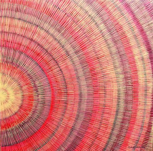 Friedhard Meyer, Licht am Ende des Tunnels, Fantasie, Abstraktes, Gegenwartskunst, Expressionismus