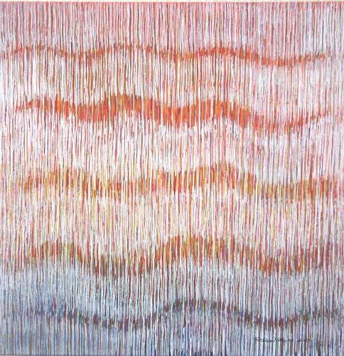 Friedhard Meyer, Farbklänge 6, Abstraktes, Dekoratives, Gegenwartskunst