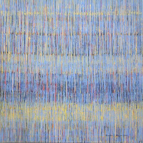 Friedhard Meyer, Farbklänge 7, Abstraktes, Dekoratives, Gegenwartskunst