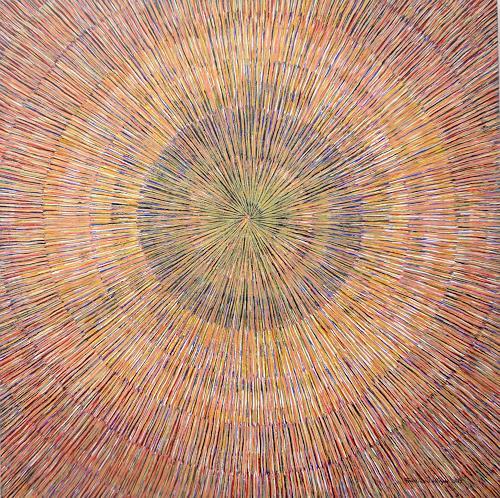 Friedhard Meyer, Meditation 2, Dekoratives, Abstraktes, Gegenwartskunst