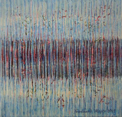 Friedhard Meyer, Miniatur 8, Dekoratives, Abstraktes, Gegenwartskunst, Expressionismus