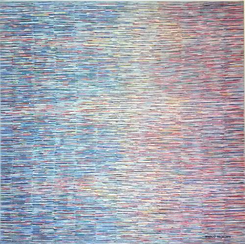 Friedhard Meyer, Von Blau nach Rot, Dekoratives, Abstraktes, Gegenwartskunst