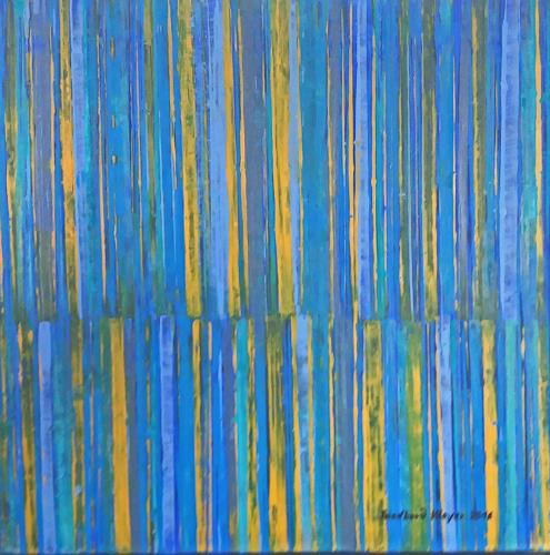 Friedhard Meyer, Farbzone Intensiv 2, Abstraktes, Dekoratives, Gegenwartskunst